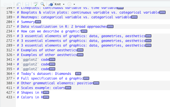 Mixing up R markdown shortcut keys in RStudio, or how to unfold all chunks